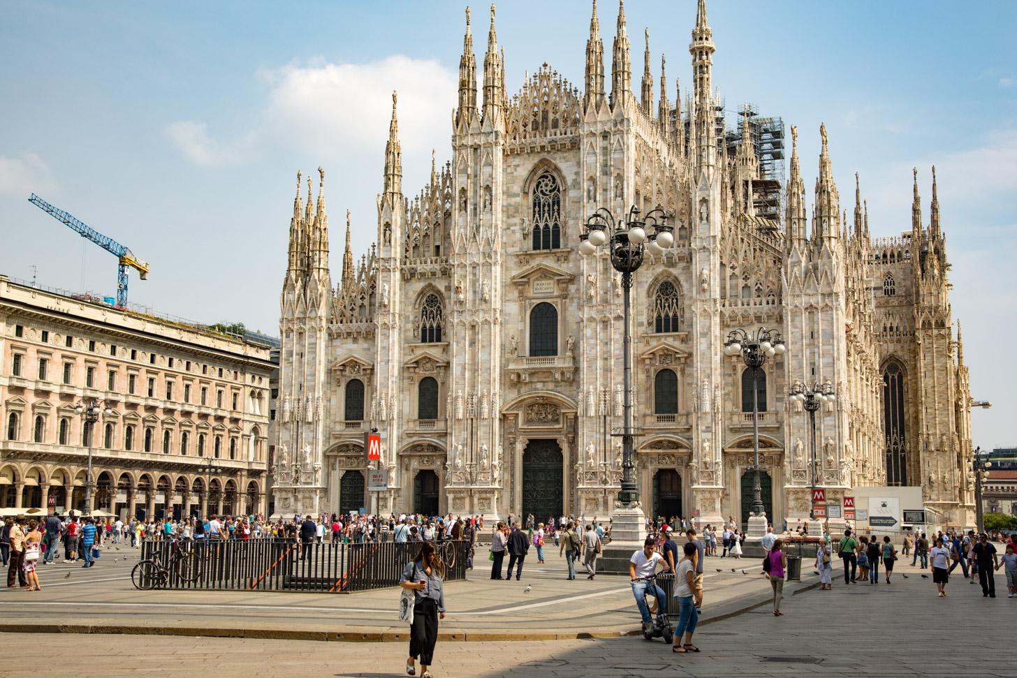 De prachtige Dom van Milaan