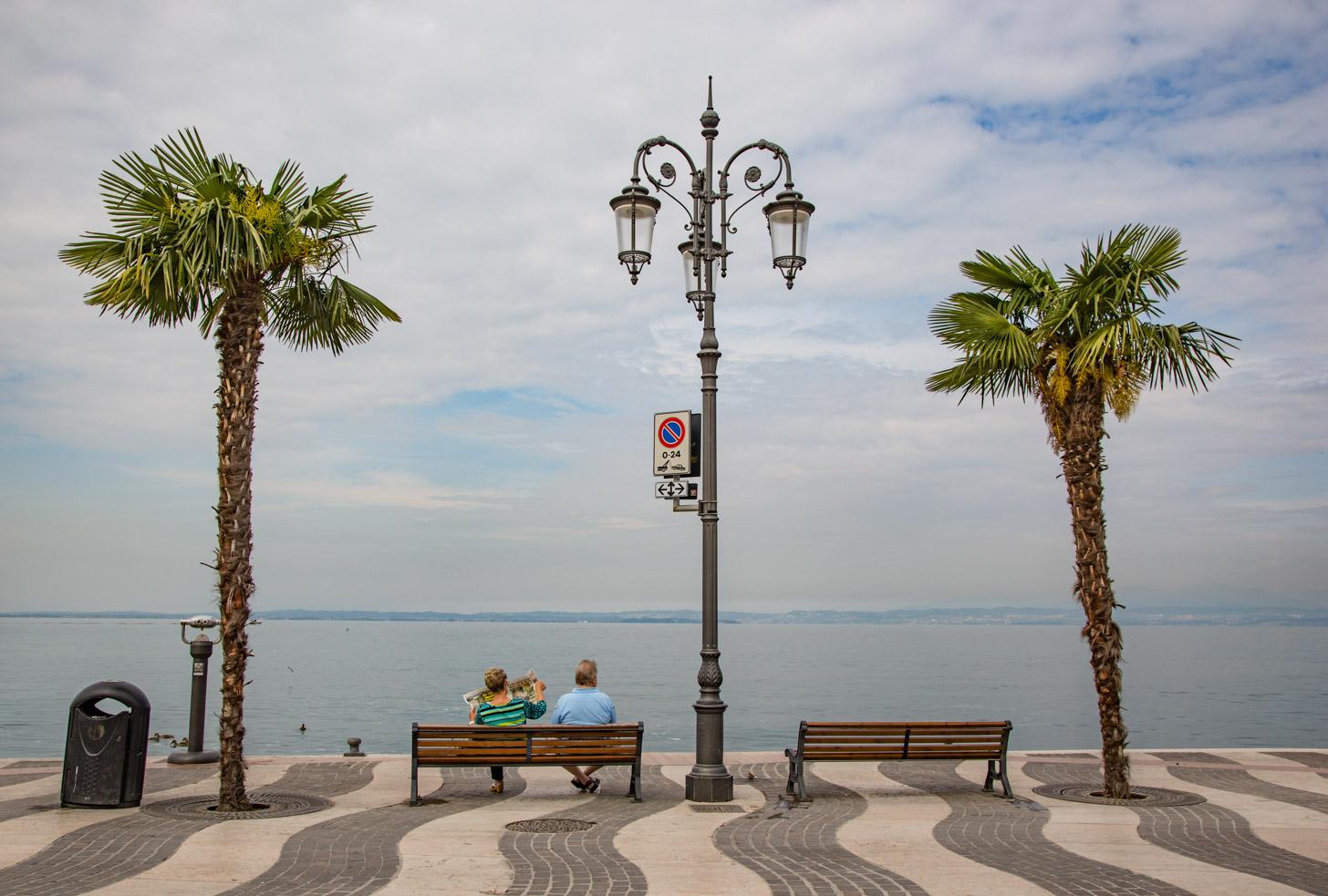 Uitzicht op het Gardameer vanuit Lazise