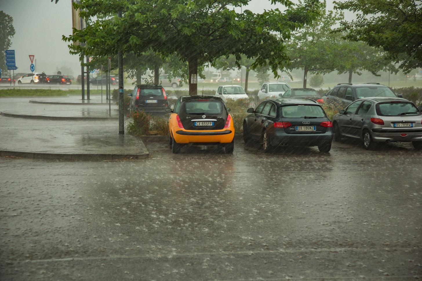 regen aan het Gardameer